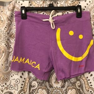 Purple shorts from Jamaica